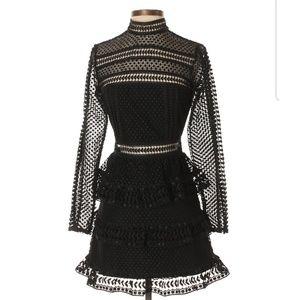 SELF-PORTRAIT: Lace Long Sleeve Dress